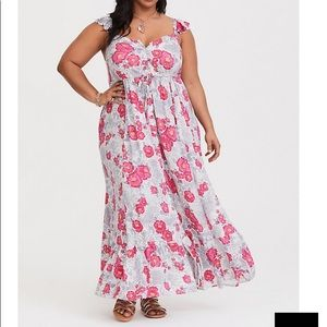 FLORAL TIERED MAXI DRESS size 3